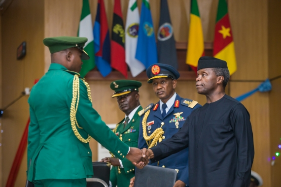The Day in Pictures: Osinbajo At The Graduation Ceremony of Armed Forces Command & Staff College