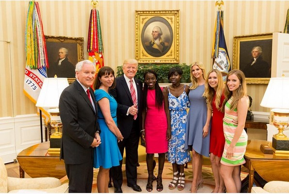 Trump, Daughter host two escaped Chibok girls at the White House