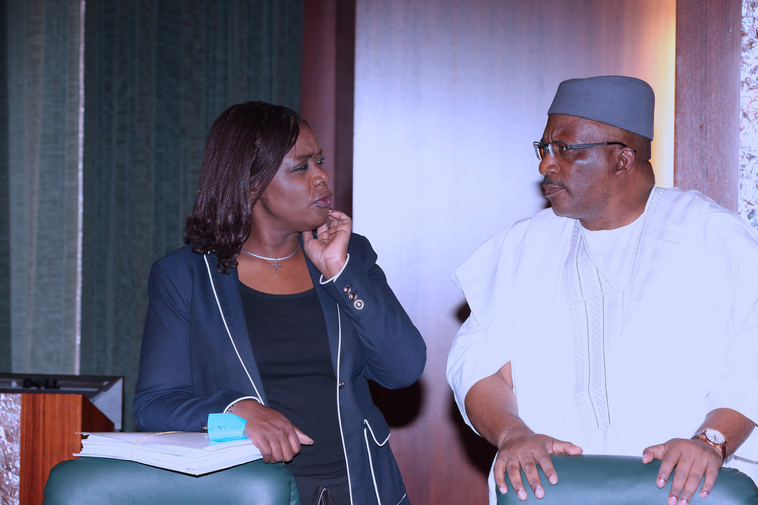Kemi Adeosun's Face Doesn't Hide How She Feels About Security in Nigeria