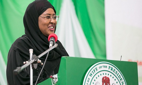 Aisha Buhari Leaves For London To See Ailing President