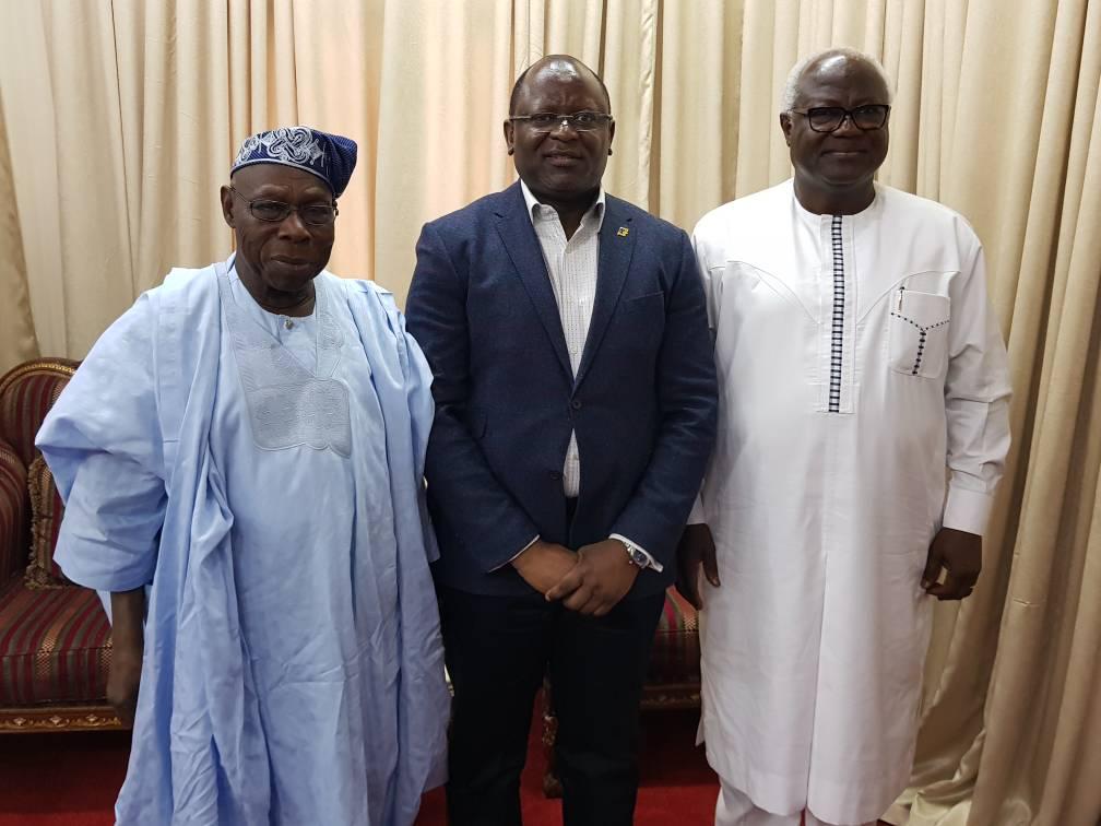 FirstBank MD/CEO, Former President Obasanjo Courtesy Visit to Sierra Leone President Ernest Bai Koroma
