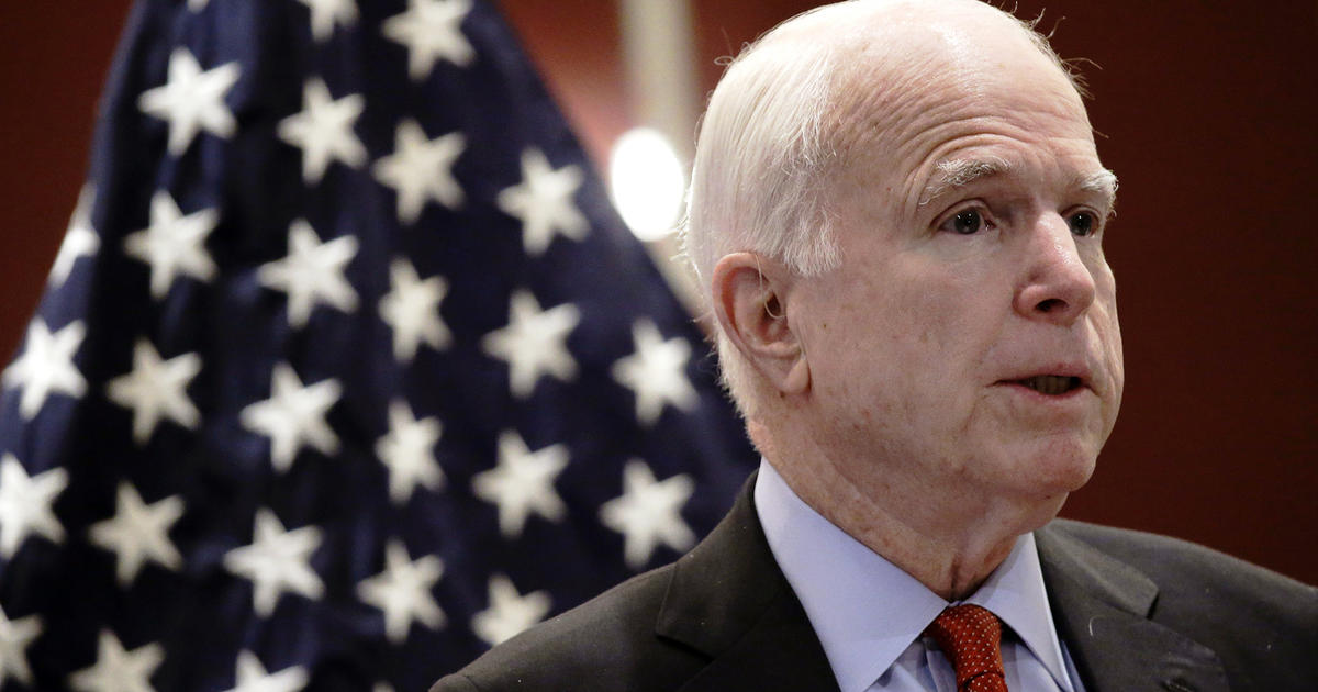 U.S Senator McCain Diagnosed With Brain Cancer