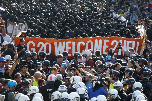 Protests Erupt Ahead of G-20 Summit in Hamburg, Germany