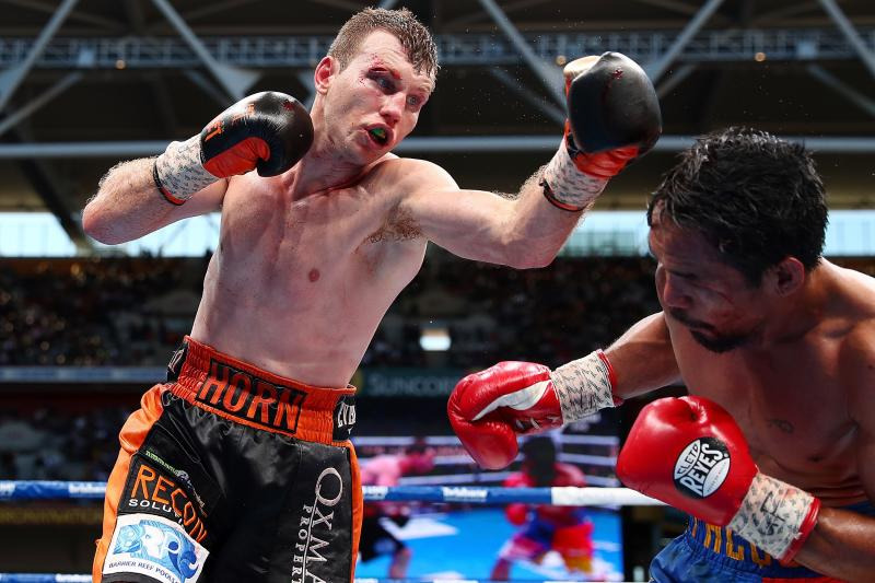 Horn stuns Pacquiuao in WBO welterweight world title fight