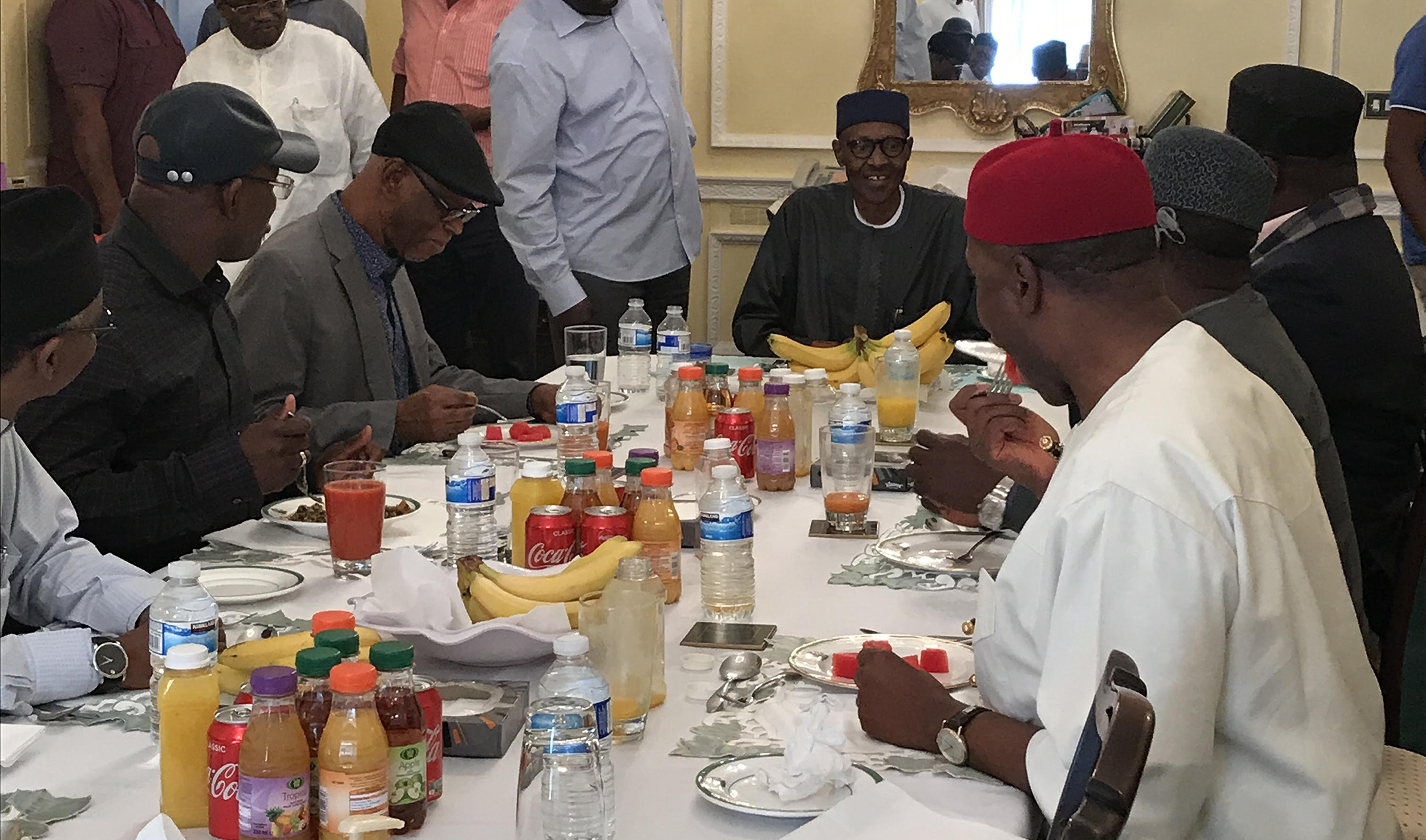 Ailing President Buhari Appears in Public for First Time in Over Two Months