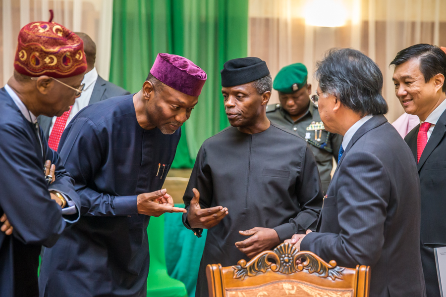Osinbajo at the Cabinet Retreat on ERGP Implementation and 2018 Budget Preparation Process.