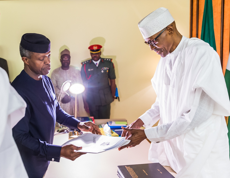 Osinbajo Submits PIP Report to Buhari
