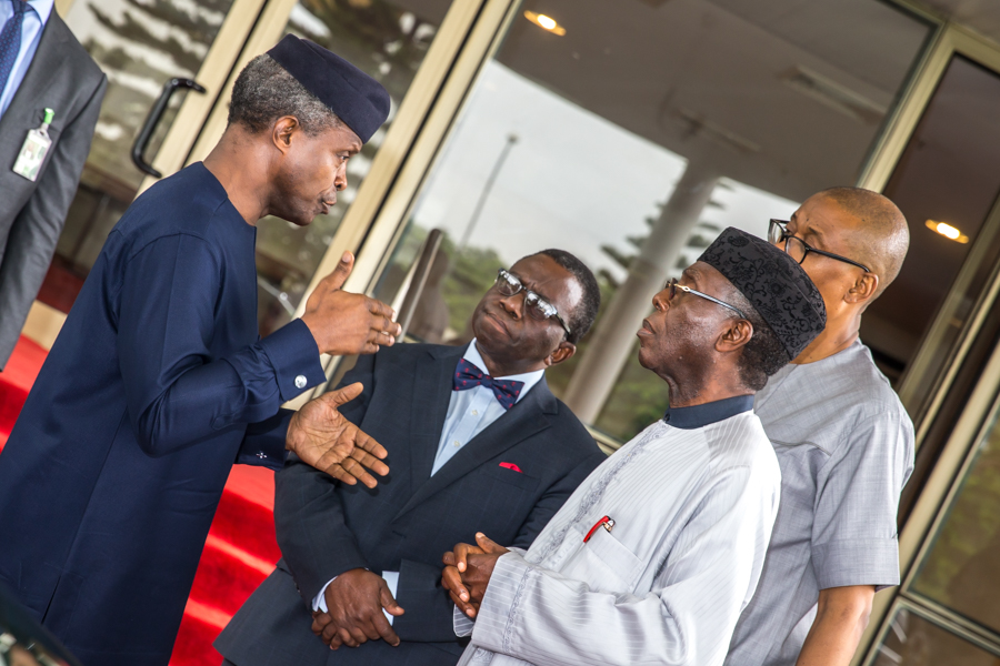 Ministers In A Group Chat With Acting President Osinbajo