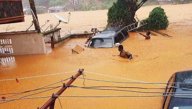Over 300 Dead As Mudslides, Floods Sweep Through Sierra Leone