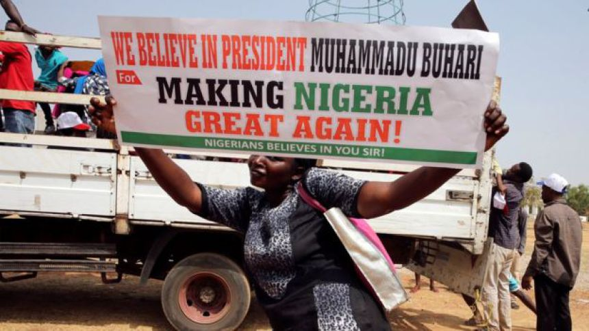 "Buhari's Supporters Storm Villa with Police Protection, Singing ""four more years."""