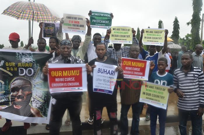 Protesters March In Nigeria, London To Demand Buhari's Resignation