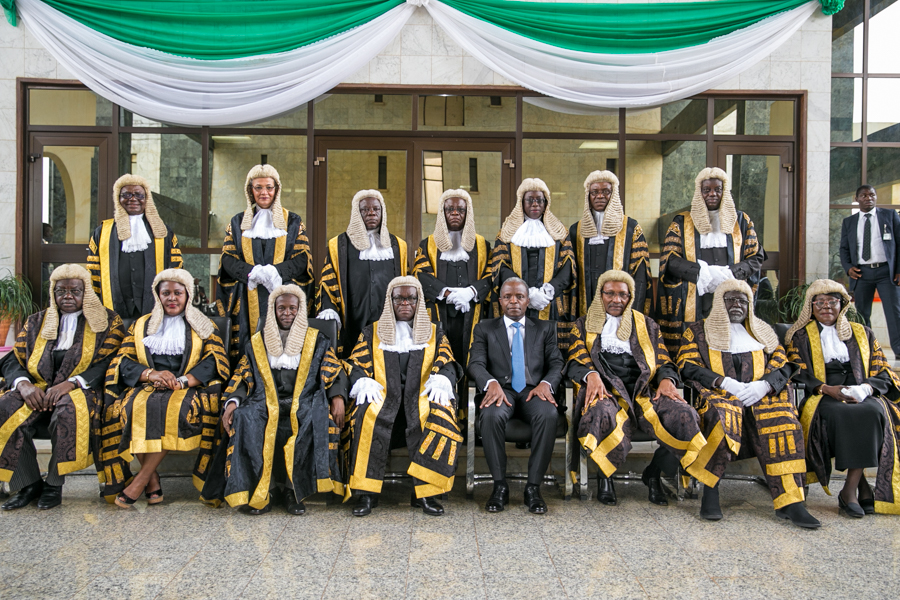 Osinbajo at brother's conferment ceremony as SAN