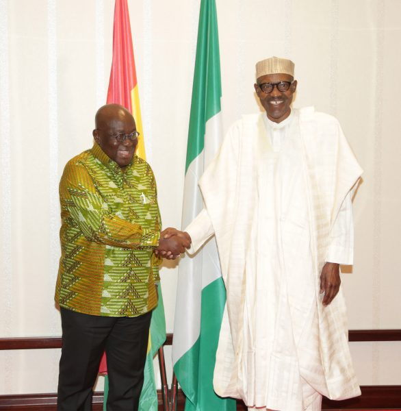 The Day in Pictures: Buhari, Akufo-Addo at the Villa