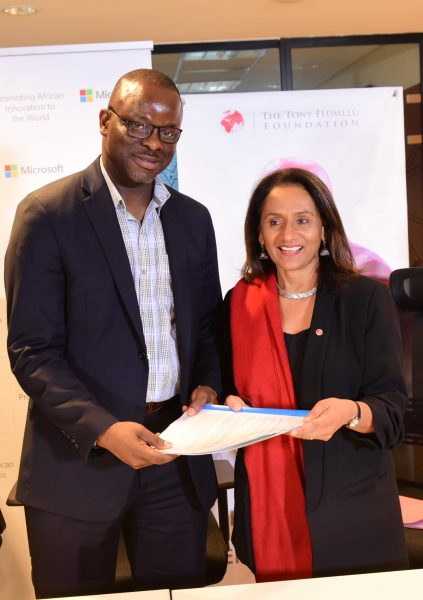 Microsoft partners Tony Elumelu Foundation: Provide entrepreneurs with tech support, resources and mentorship