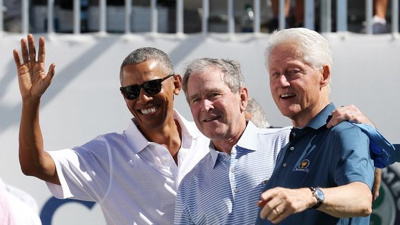 The Day in Pictures: When parties unite, there is help in sight- former presidents Obama, Bush and Clinton