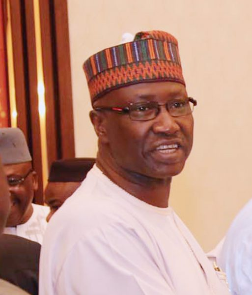 PRESIDENT BUHARI AND NEW SGF BOSS MUSTAPHA. 0B The New SGF, Mr Boss Mustapha File PHOTO; SUNDAY AGHAEZE/STATE HOUSE
