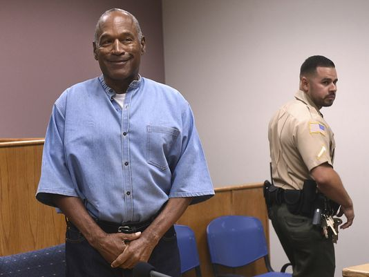O.J. Simpson freed on parole after nine years in jail