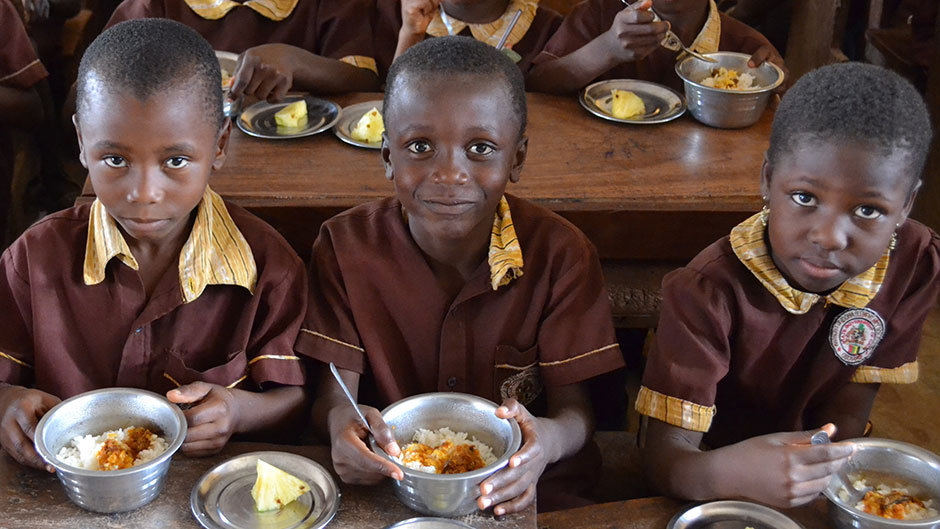 Over 4 million school pupils now eat one free meal a day- Presidency