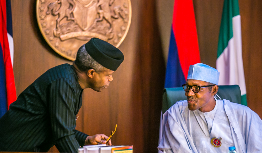 The Day In Pictures: Buhari, Osinbajo at the FEC