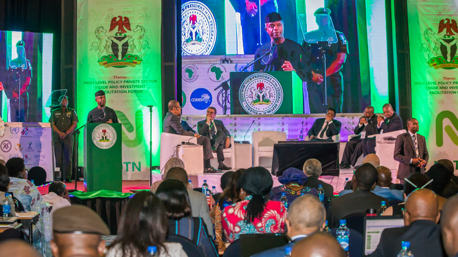 Osinbajo at the private sector trade and investment facilitation partnership forum