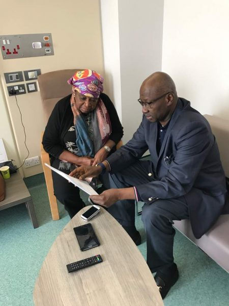 SGF visits Dr Ekwueme in London hospital
