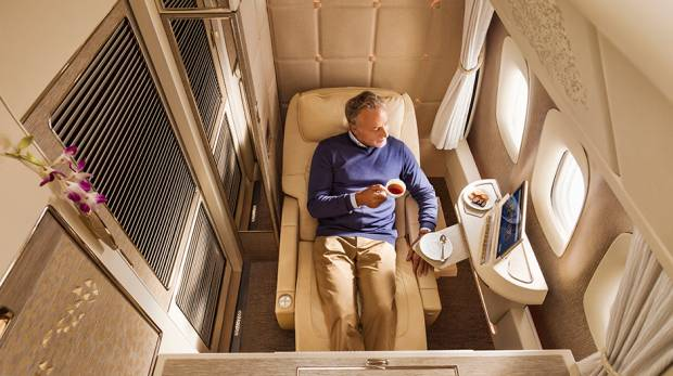 Emirates Airlines unveils new first, business class suites with beds, wardrobes and moon lighting