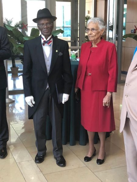 The Day in Pictures: Nigeria's Ambassador to the U.S Sylvanus Nsofor, Wife