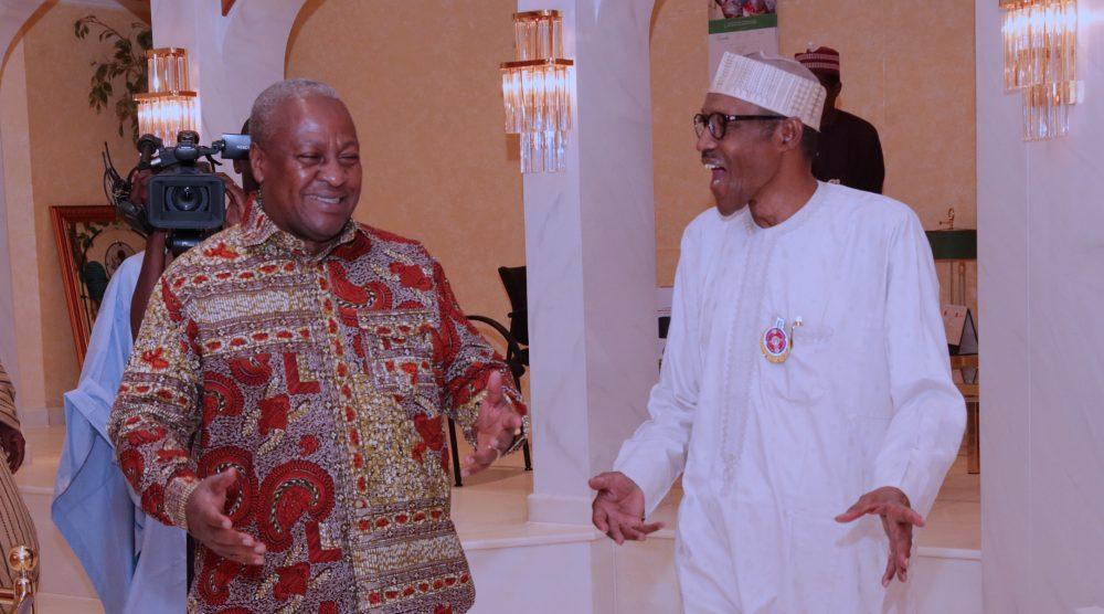 Buhari, Mahama at the Villa