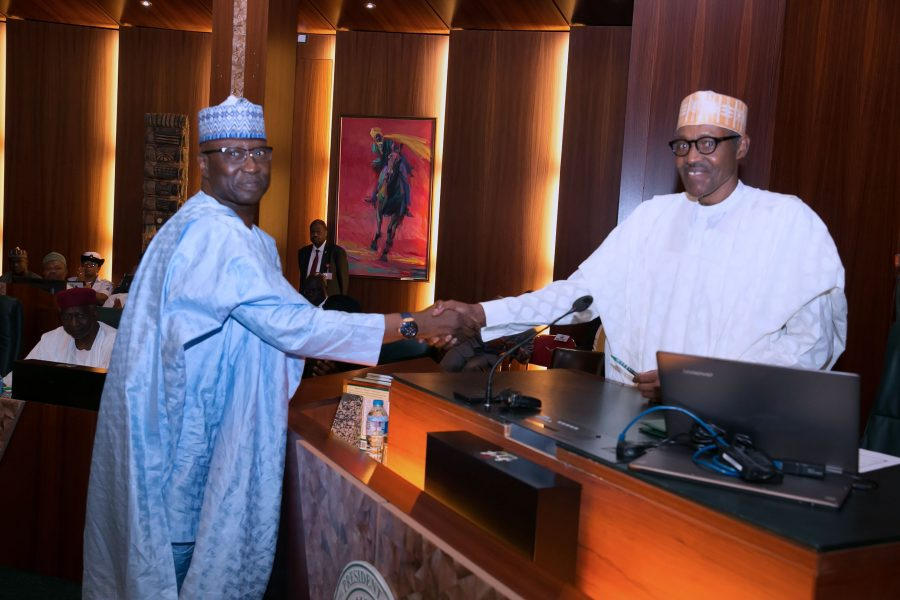 In Pictures: Boss Mustapha takes oath of office as SGF