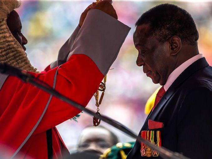 New Zimbabwean president Emmerson Mnangagwa