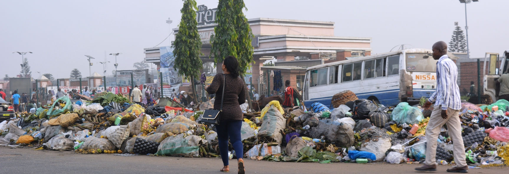 This Stinks! Lagos filthy street in photo