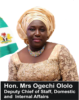 Okorocha swears in sister as Happiness commissioner