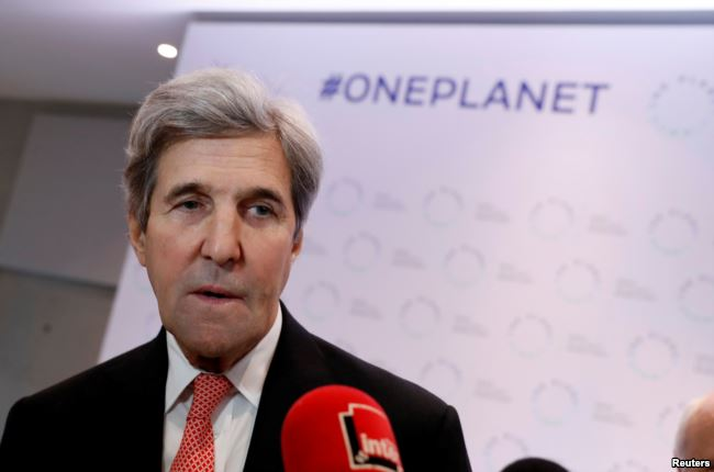 One Planet Summit: US absence a disgrace- Kerry