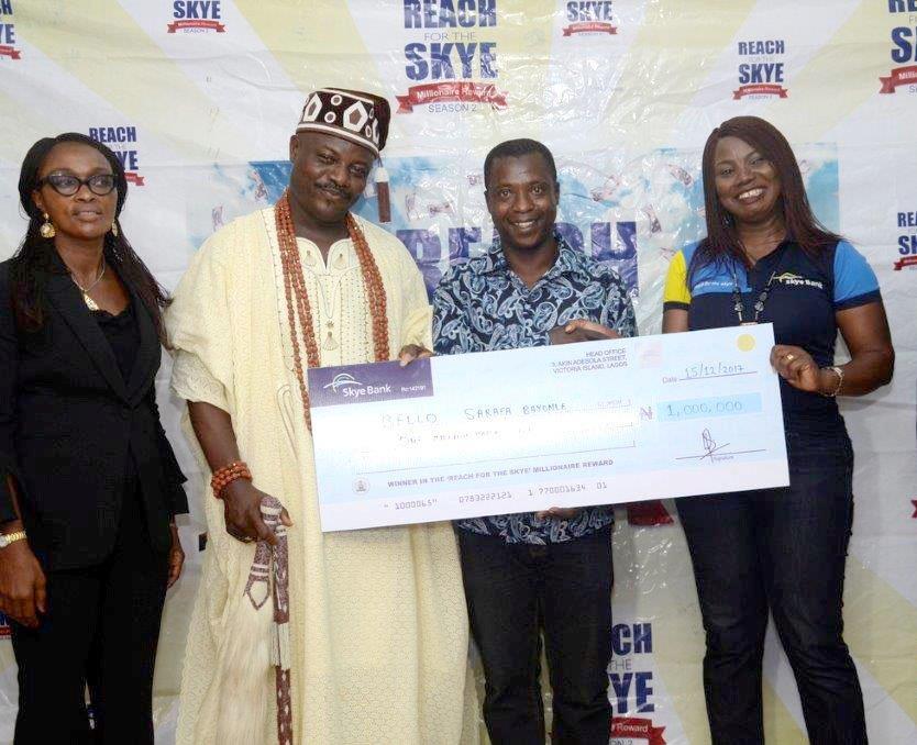 Retired Civil Servant Wins N1 Million in Skye Bank Reward Promo
