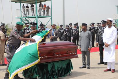 Osinbajo, Saraki, Dogara, others at parade in Ekwueme's honour