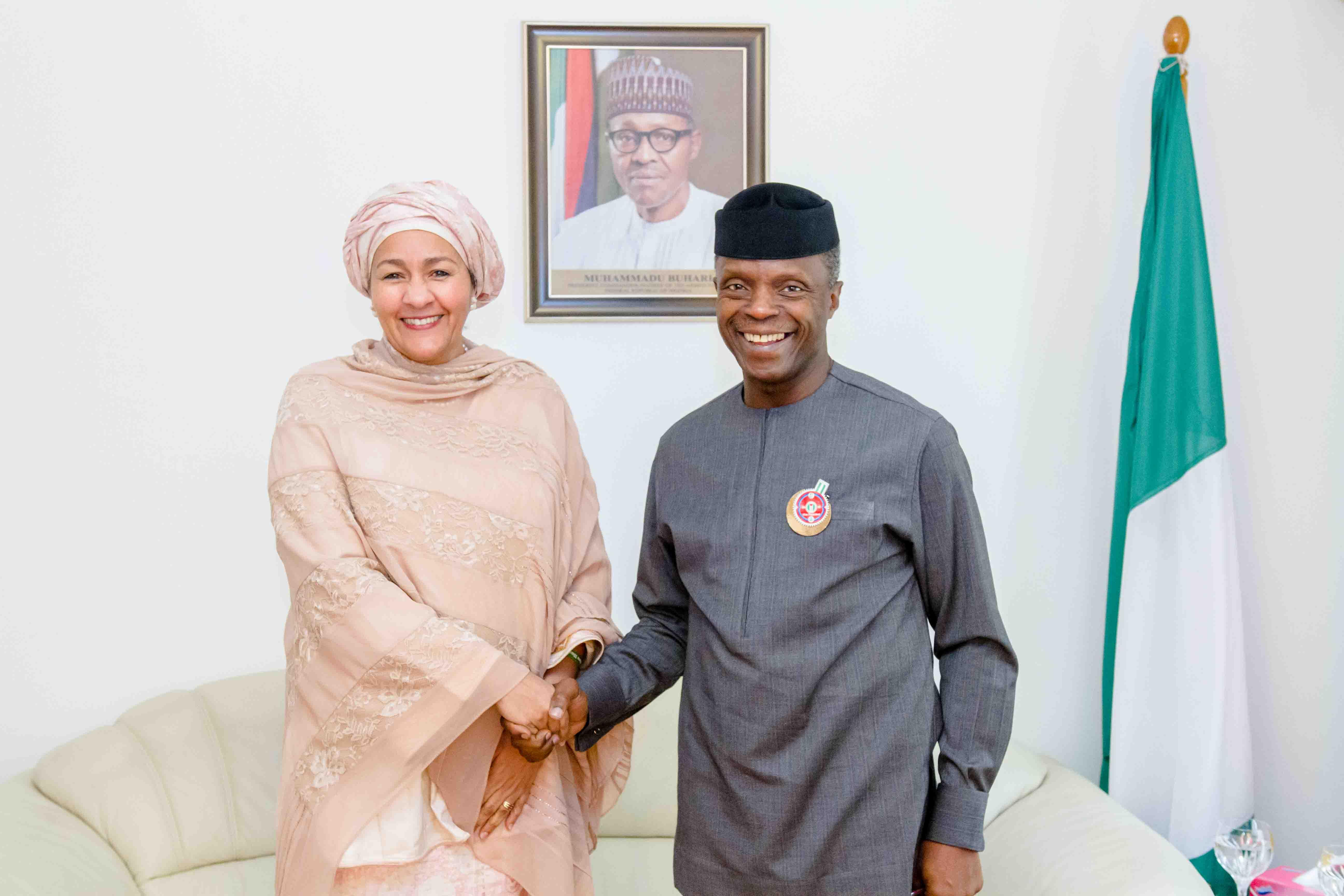 Osinbajo meets with UN deputy secretary general