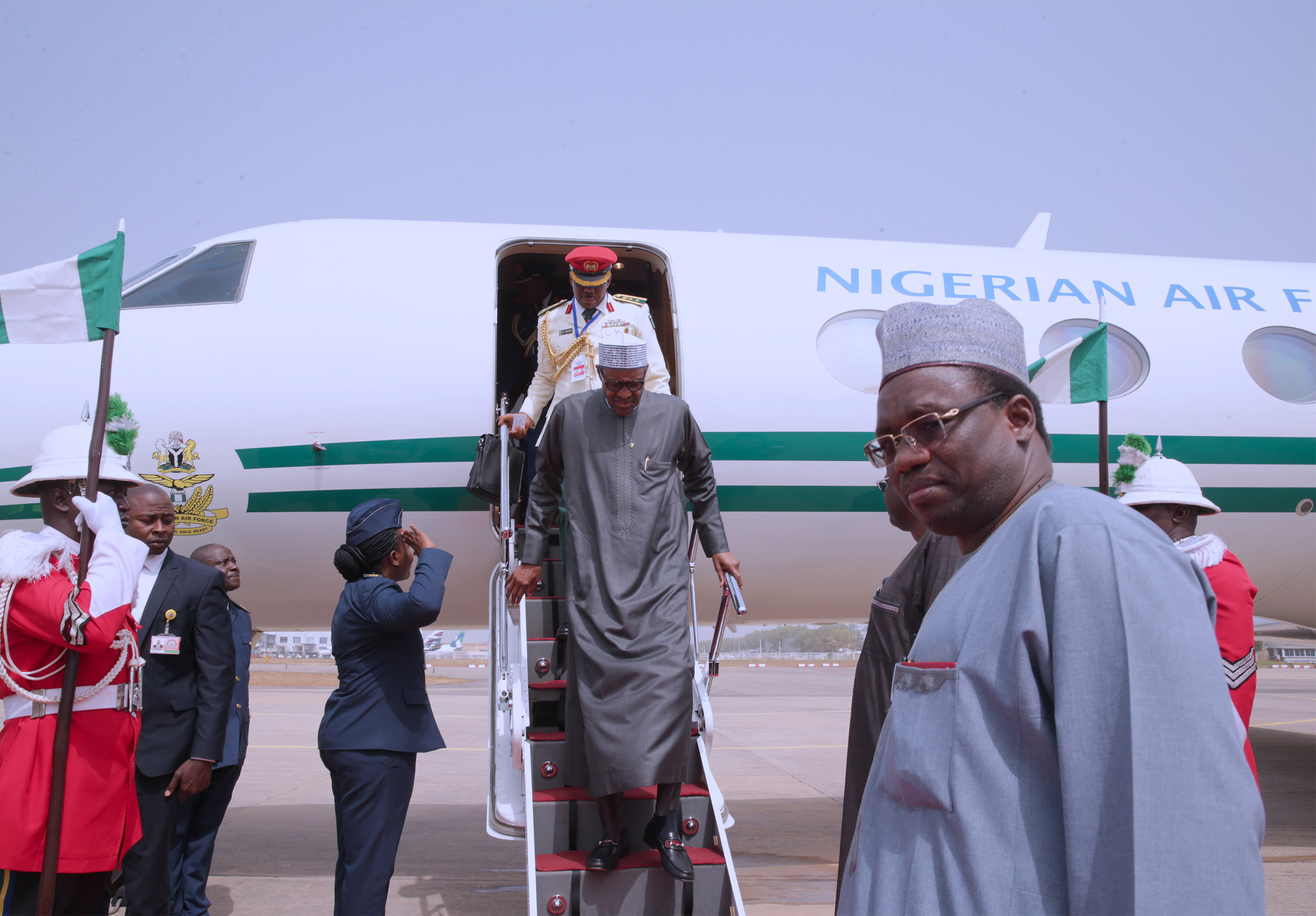 The Day In Photos: Buhari back from AU Summit