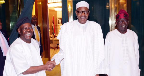 Aftermath of Obasanjo's letter, Tinubu, Akande in closed door meeting with Buhari