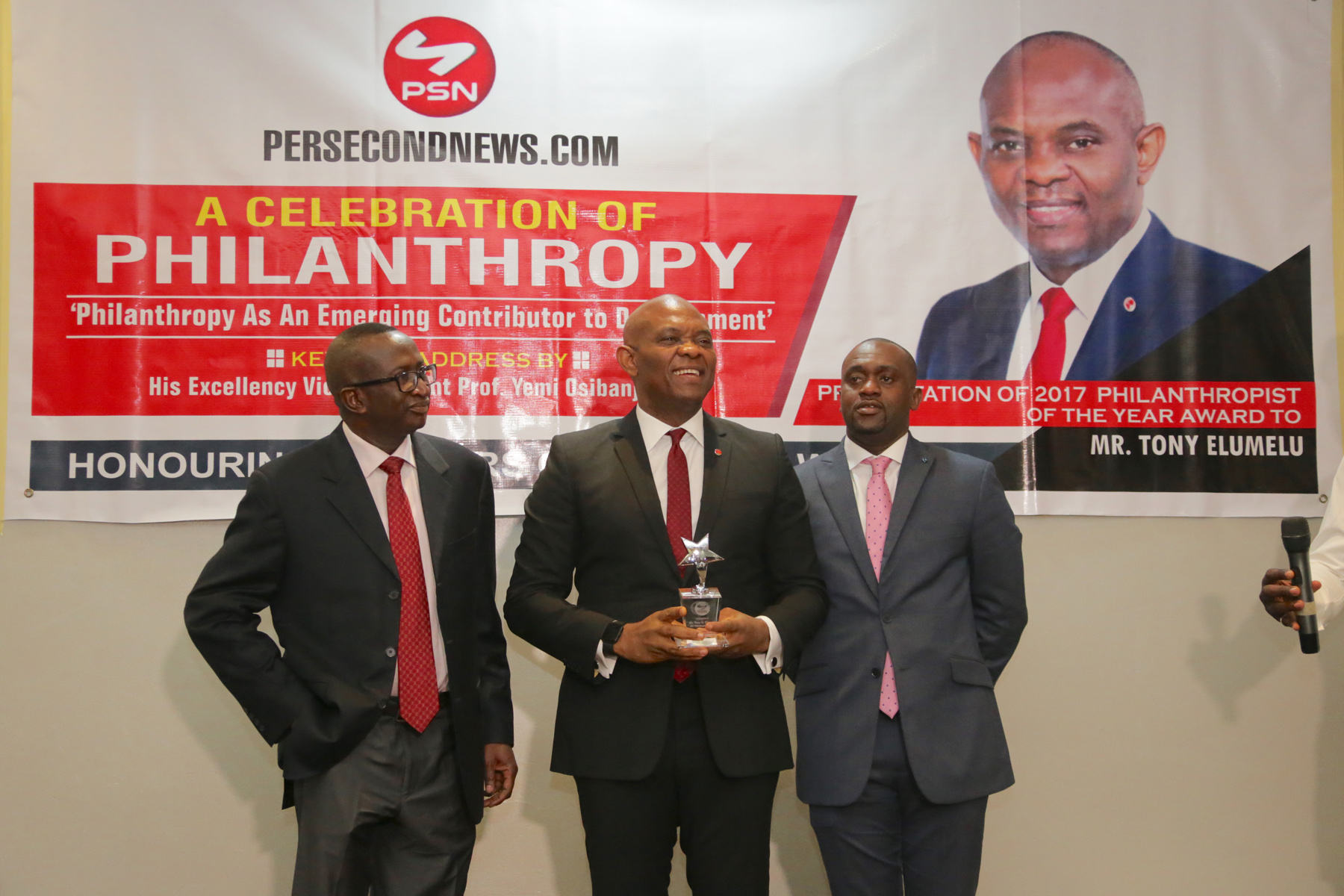 Elumelu Receives 2017 Philanthropist of the Year Award