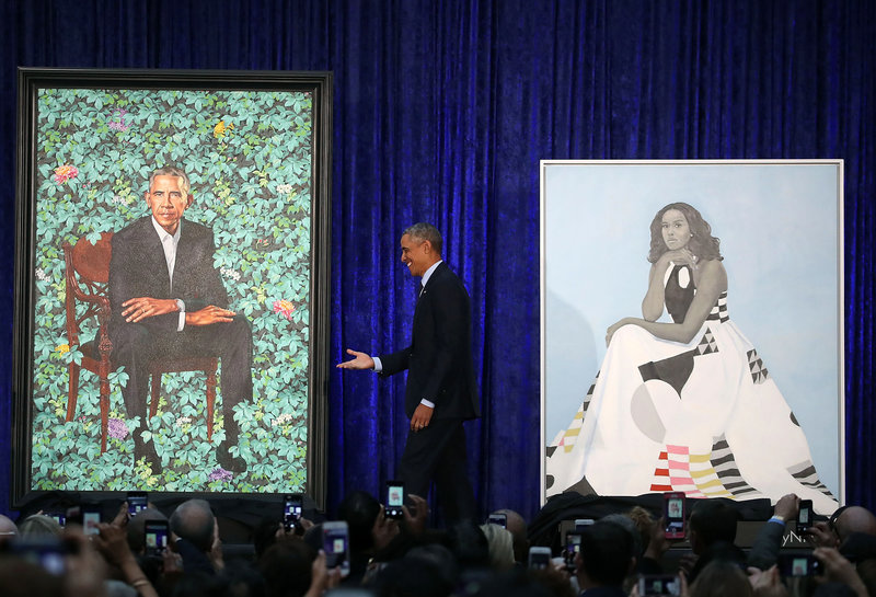 The Art World Stands Up For Nigeria's Kehinde Wiley As U.S Gallery Unveils Obama's Portrait