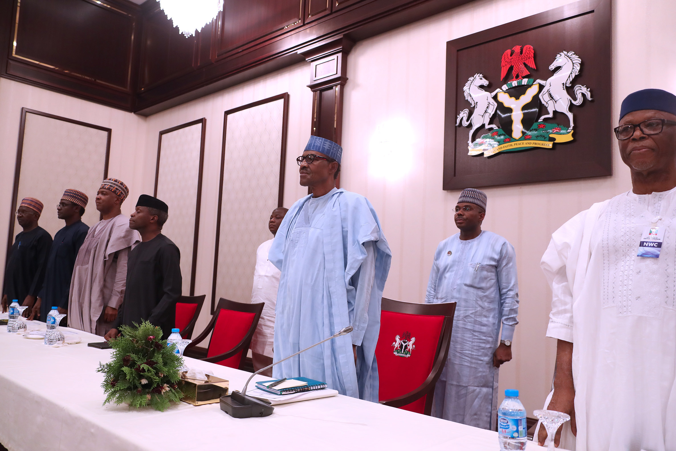 Tinubu, Akande absent at APC National Caucus meeting in Abuja presided over by Buhari