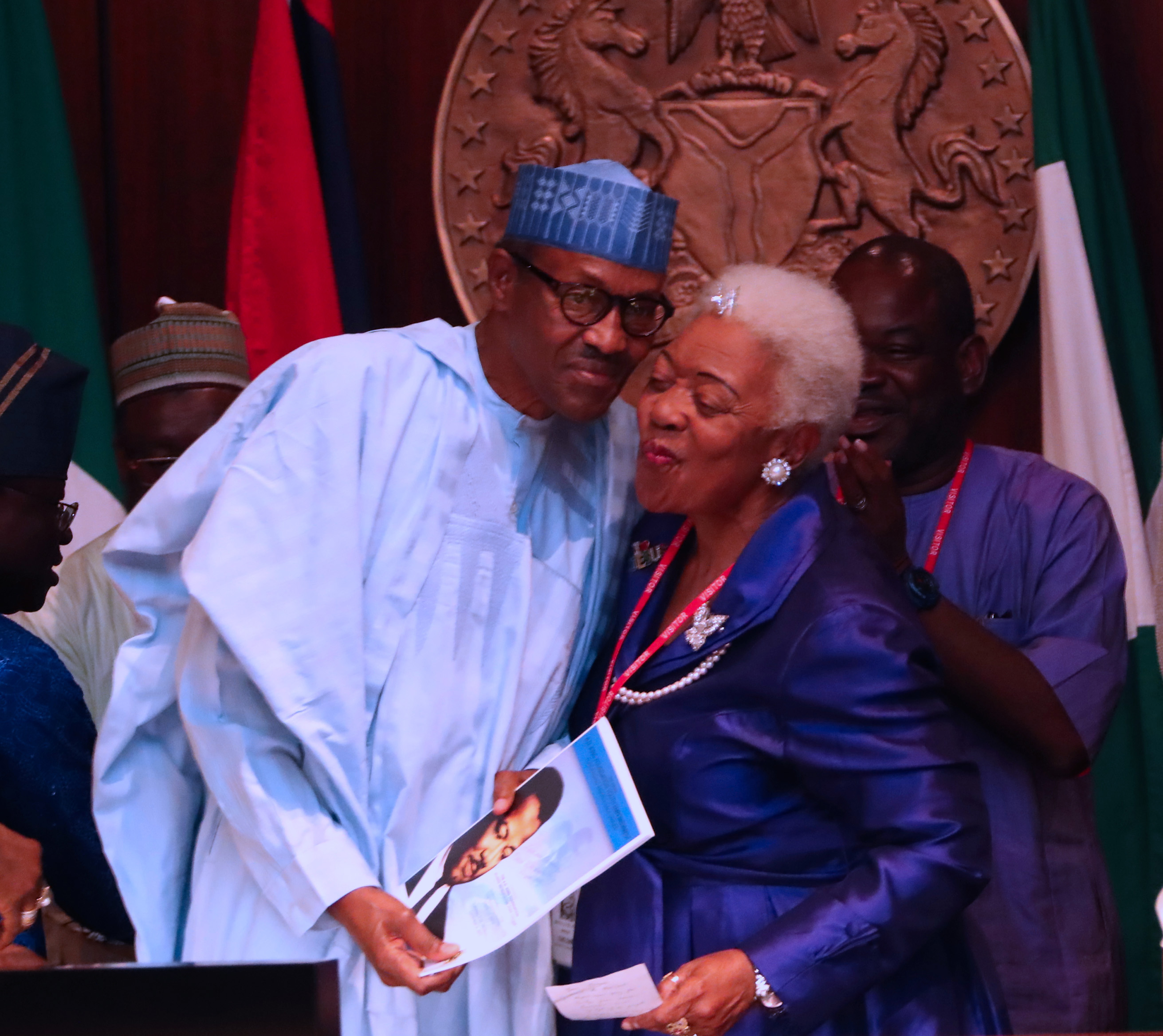In Pictures: Buhari receives wife of the late Martin Luther King's brother
