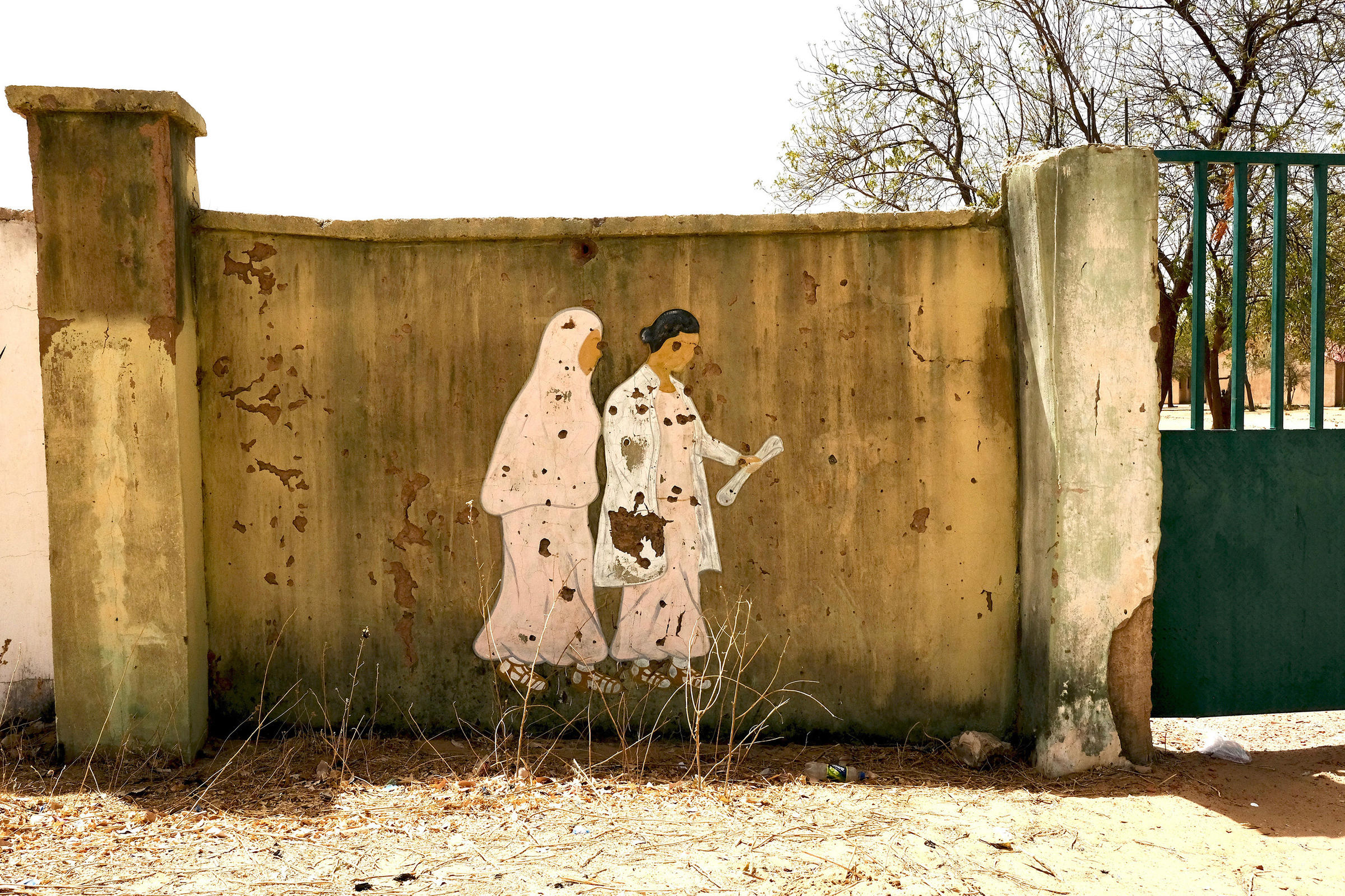 Photo: Dapchi school Mural riddled with bullet holes