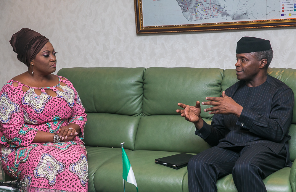 The Day in Pictures: VP Osinbajo Receives Liberia's Vice President Jewel Taylor