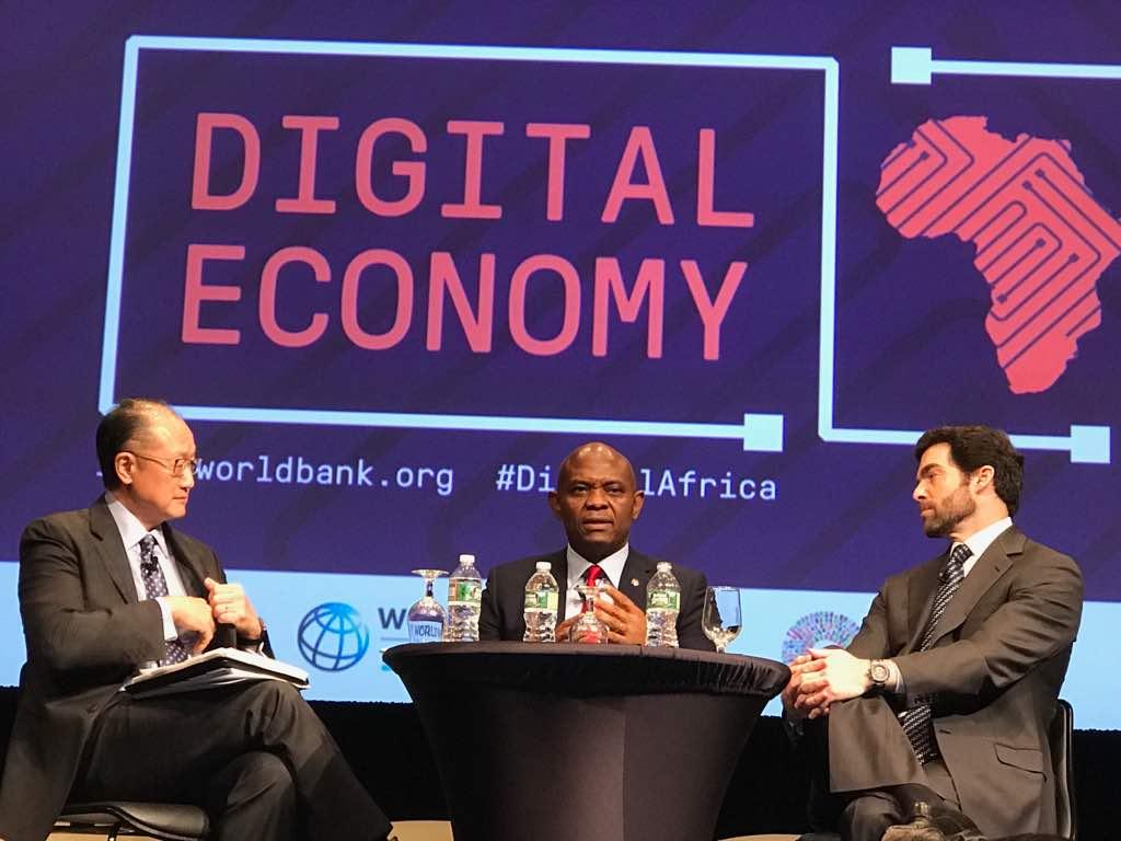 Elumelu, World Bank President at the IMF, World Bank Spring Meeting in Washington