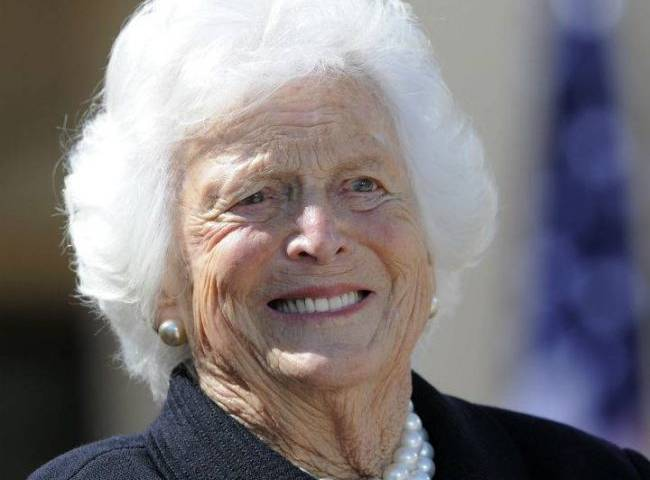 Barbara Bush, wife and mother of presidents, dies at 92