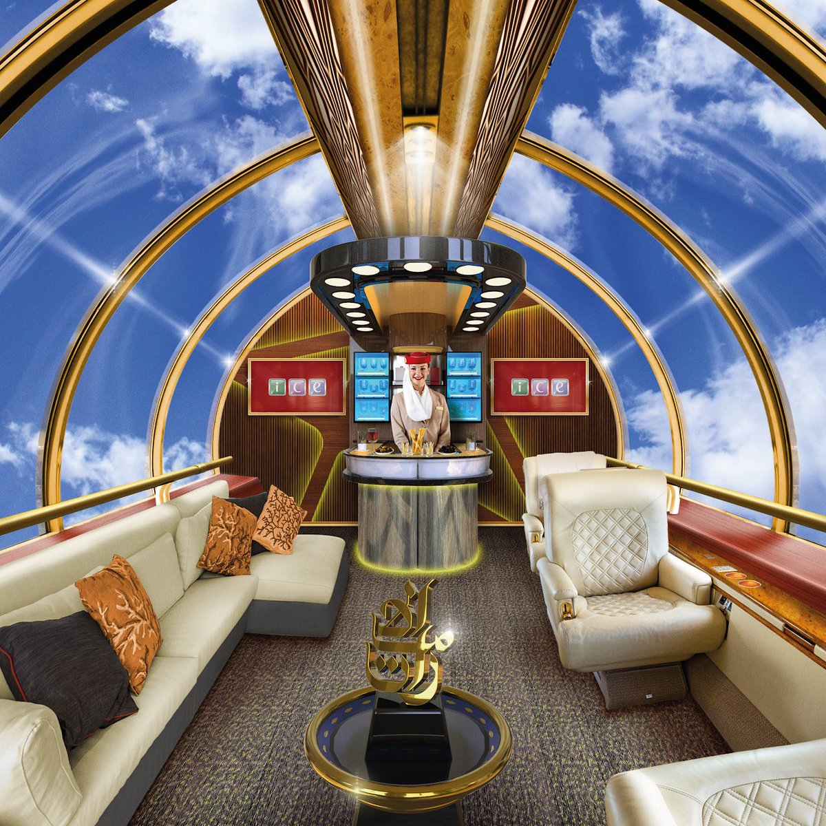 Emirates airline introduce swimming pool, see-through lounge aboard aircrafts