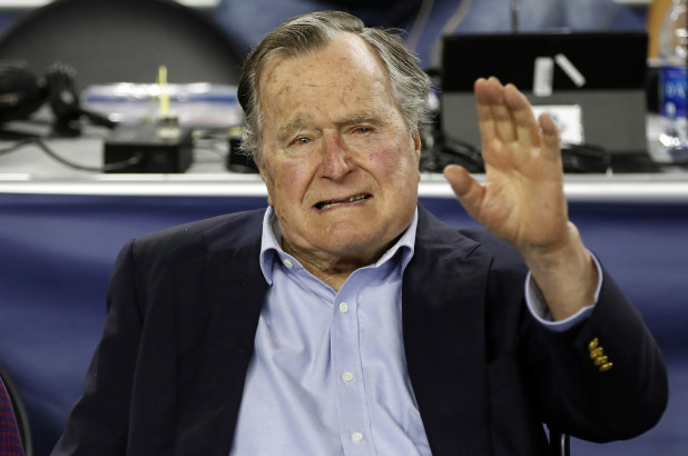 President George H.W. Bush hospitalized after experiencing low blood pressure