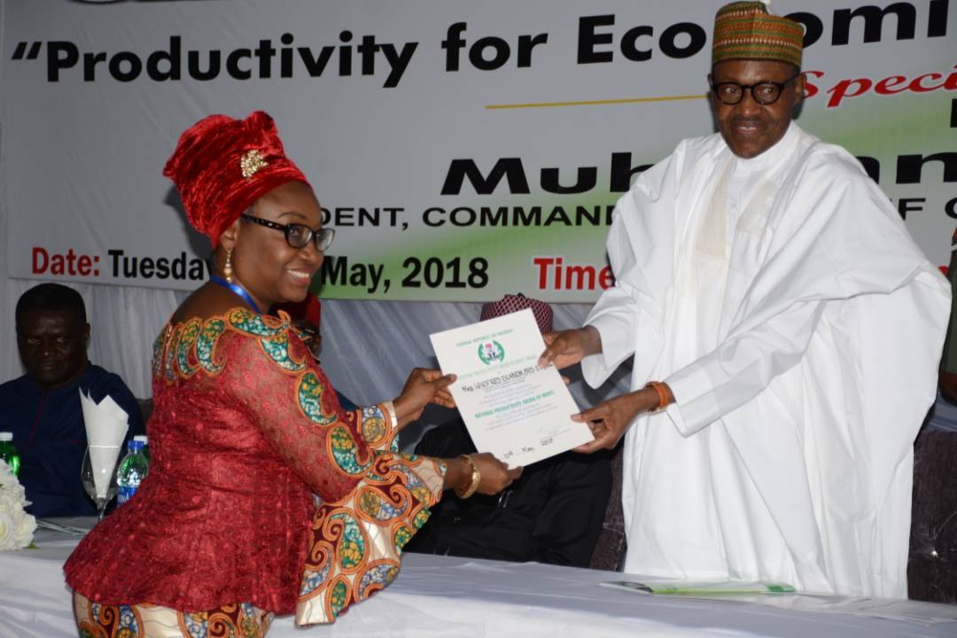 President Buhari Surprises Oyo-Ita With National Productivity Order of Merit Award