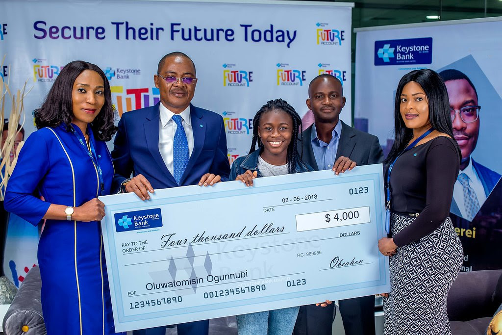 Keystone Bank empowers 12-yr-old ICT whiz kid with $4000